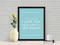 wedding gifts queenstown new zealand personalized wedding print products