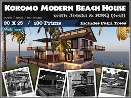 Modern Beach House Second Life Marketplace Modern Beach House Kokomo