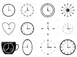simple dial plates set of clocks vector clipart image 34534