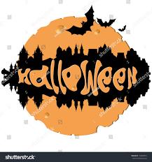 the halloween city halloween city stock vector 154608872 shutterstock