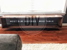 diy west elm mid century modern coffee table simple