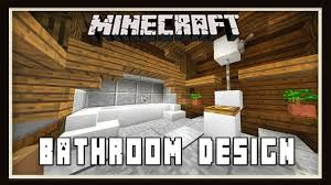 minecraft bathroom designs minecraft bathroom design how to build a house part 13 youtube