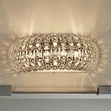 bathroom crystal wall sconce light wall lighting hollywood glam