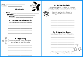 star book report project templates worksheets grading rubric