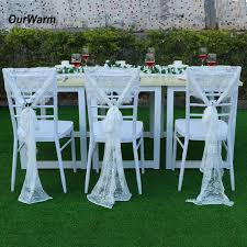 wedding chair sashes ourwarm 35x300cm wedding chair sashes floral white lace chair bow
