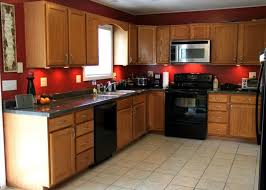 Kitchen Colors With Oak Cabinets Pictures by Kitchen Paint Colors With Oak Cabinets And Black Appliances