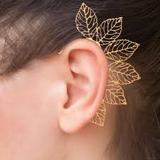 ear cuffs online india buy swanvi new stylish golden ear cuffs for women online best