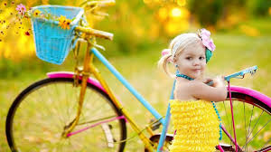 Cute small baby girl with bicycle Photos  YouTube