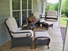 Dark Wicker Patio Furniture by Furniture Dark Wicker Porch Ottoman Chairs And Glass Topped Porch