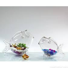 7 5 inch glass fish shaped aquarium bowl vase market