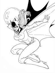Superhero Girls Catwoman Coloring Pages Womanmate Com Batgirl And Supergirl Coloring Pages Printable