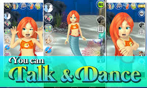 talking mermaid princess noads android apps google play