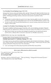 Sample Resume Business by Banking Resume Example