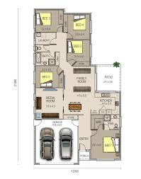 piper floor plan has double garage and very spacious five house