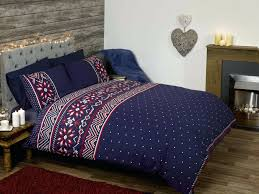 King Size Brushed Cotton Duvet Covers Snowflake Duvet Cover Red Snowflake Duvet Covers Fairisle Stag