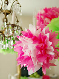 how to make tissue pom poms hgtv
