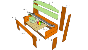 how to build wooden benches kits courtyard garden and pool designs