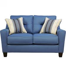 home theater loveseat ashley furniture forsan nuvella loveseat in blue local furniture