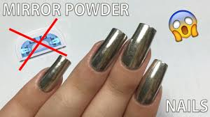 does the mirror powder work without gel polish nail art 101