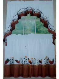 country roosters and sunflowers kitchen curtains set rooster and country roosters and sunflowers kitchen curtains set