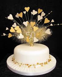 50th golden wedding anniversary cake topper flickr photo