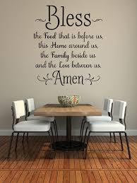decorating ideas for kitchen walls bless the food before us wall decal kitchen wall art dining room