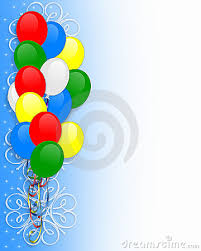 Border Designs For Birthday Cards Invitation Balloons Border