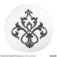 kissen mit damask ornament decoration