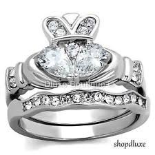 claddagh wedding ring sets claddagh ring set ebay