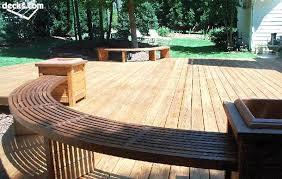diy curved bench building a round or curved deck decks com garden ideas
