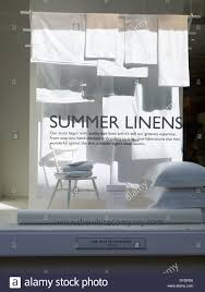 the white company window display in king street manchester uk