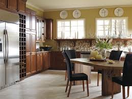 create a modern day countryside feel with hickory cabinets in