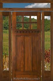 Exterior Wooden Doors For Sale Craftsman Style Doors Sidelights And Transoms Building Sources