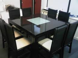 Black Square Dining Table Modern Square Dining Table Room On Black Cozynest Home
