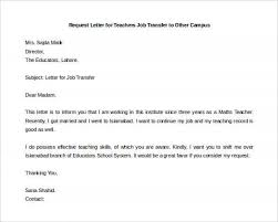 Sample Resume For Maths Teachers by Brilliant Ideas Of Sample Teacher S Letter Request For Transfer To