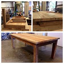 reclaimed barn wood table built a reclaimed barn wood table 7ft long x 3 4 wide legs are