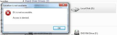 drive not accessible partition drive not accessible access is denied techyv com