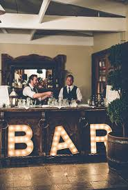 bar decor decorative wedding bar ideas brides