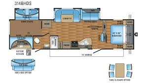 Jayco Travel Trailers Floor Plans by 2018 Jayco Eagle Ht 314bhds Model