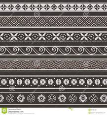 set of borders frames with ancient ornaments vector stock vector