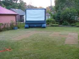 back yard movie nite blow up screen youtube