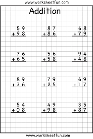 Addition Worksheets Single Digit 24 Best 2 Digit Addition With Regrouping Images On Pinterest