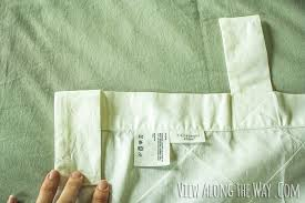 How To Sew Curtains With Rings Tutorial How To Update Out Dated Tab Top Curtains