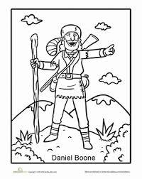 Daniel Boone Coloring Page tales daniel boone worksheet education