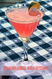martini sweet rhubarb martini