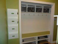 closet turned into a mini mudroom such a clever project by ryobi