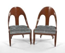 Slipper Chairs Michael Taylor For Baker Pair Of Slipper Chairs 05 30 15 Sold