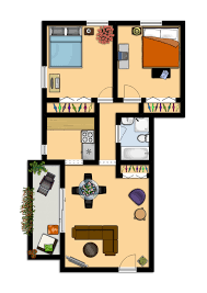 Two Bedroom Floor Plan by Home Design One Bedroom Apartment Designs Example 2 Floor Plan