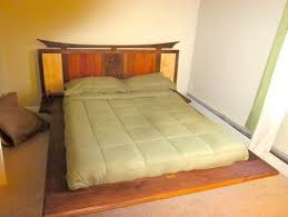 Platform Bed With Lights Floating Platform Bed With Led Lights And Carving By Craftsman