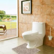 Soft Bathroom Rugs by Vdomus Contour Bath Rug Soft Shaggy U Shaped Toilet Floor Mat